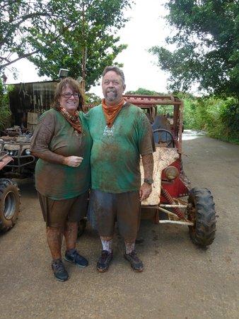 Kauai ATV : My husband and I, our first wedding anniversary, so much fun.