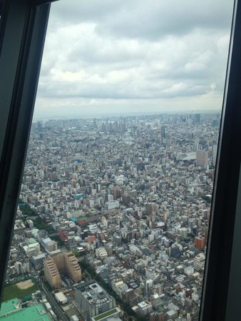 Tokyo Skytree: View from the first level observatory deck