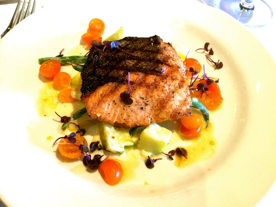 Mustards Grill: King Salmon (special)