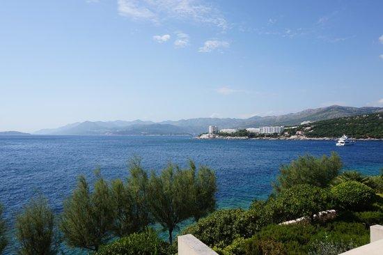 Hotel Dubrovnik Palace: uitzicht kamer 2de verdiep