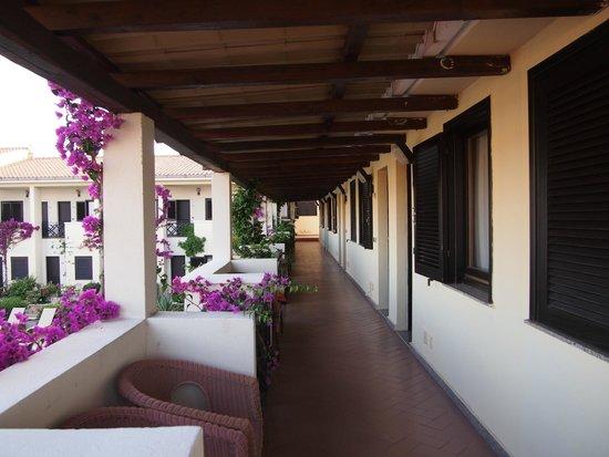 Hotel Palau: corridoio accesso in camera