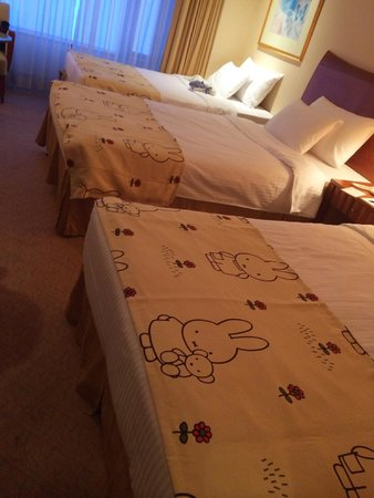 Grand Park Otaru: Miffy sheets!! So cute <3