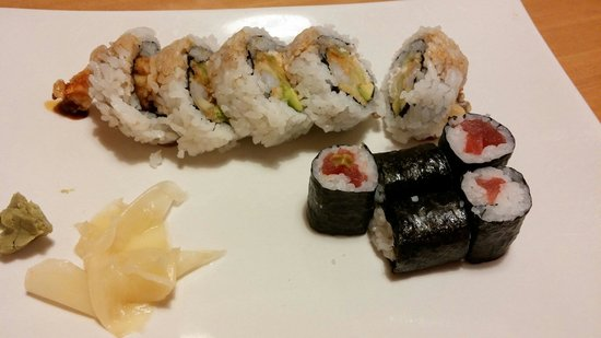 Totoro: Tuna nigiri and crunchy shrimp tempura roll.