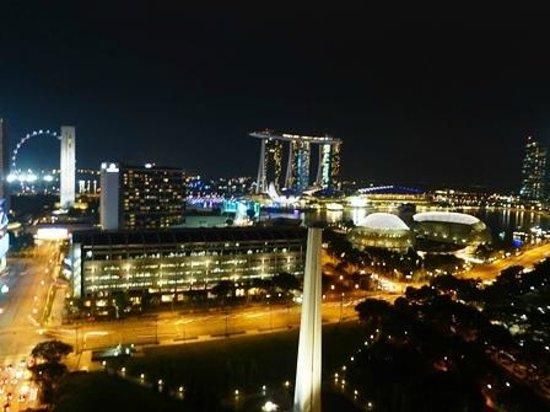 Fairmont Singapore: ラナイからの眺め(夜)