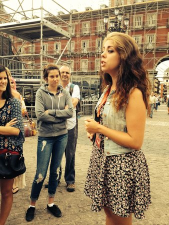 SANDEMANs NEW Europe - Madrid: Celia telling us one of many historical moments in Madrid!