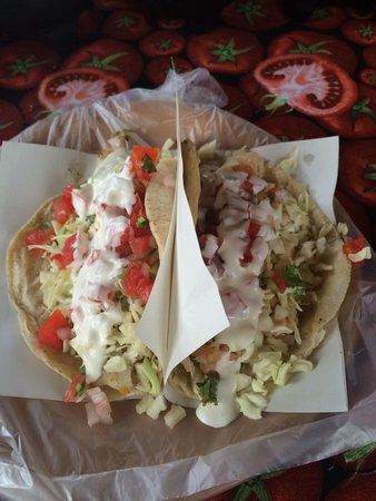 Charly's Place: Fish and shrimp tacos.