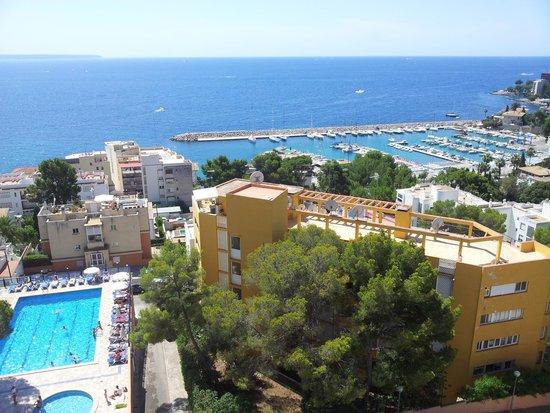 Hotel Blue Bay: Vista piscina dalla camera