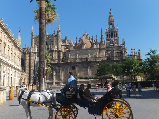 Hotel Becquer: la place de la cathédrale et la Giralda