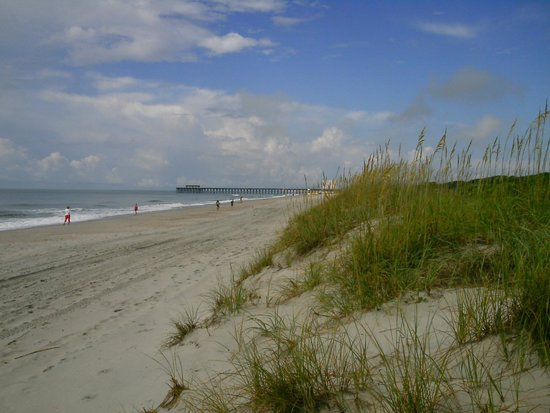 Myrtle Beach State Park: View from Cabin 1-5 beach access to Pier