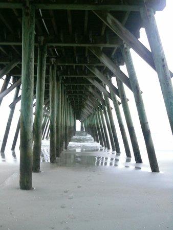 Myrtle Beach State Park: View under the State Park Pier