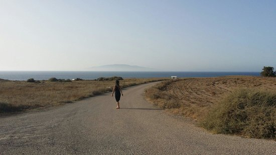 Pelagos Hotel-Oia: Road to the hotel from main road