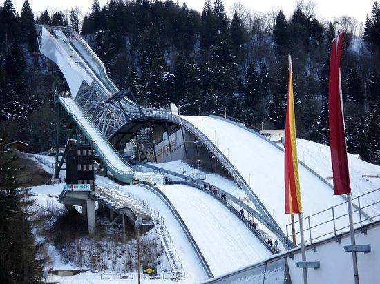 Olympiaschanze: Vor Fertigstellung