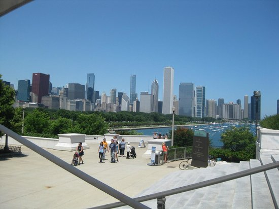 Shedd Aquarium : Chicago skyline from aquarium