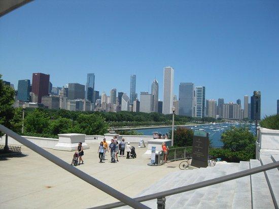 Shedd Aquarium: Chicago skyline from aquarium