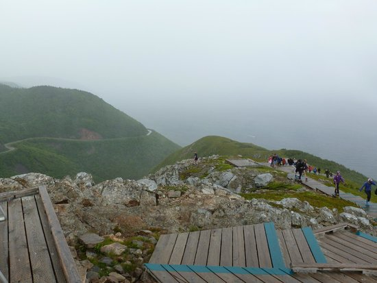 Cape Breton Highlands National Park: Skyline Trail View in the Fogg