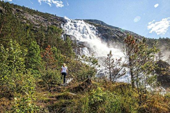 Langfoss Waterfall