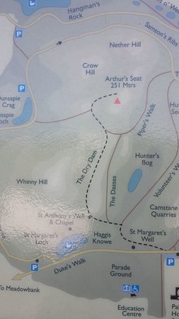 Arthur's Seat: map