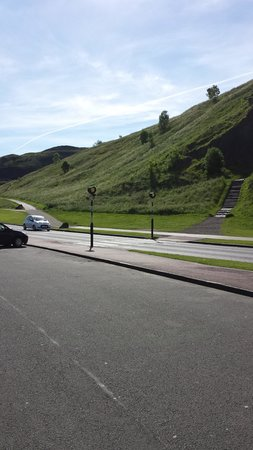 Arthur's Seat: two paths - another view