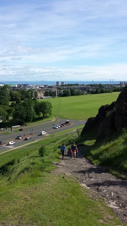 Arthur's Seat: going up the steep side