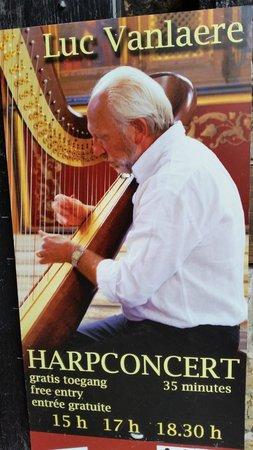 Luc Vanlaere Harpist: concert poster