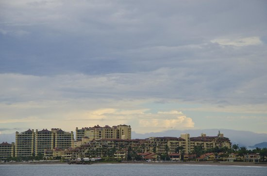Velas Vallarta : View of hotel from a boat