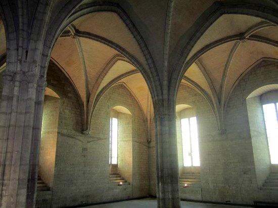 Pope's Palace (Palais des Papes): una navata con pilastri e volte