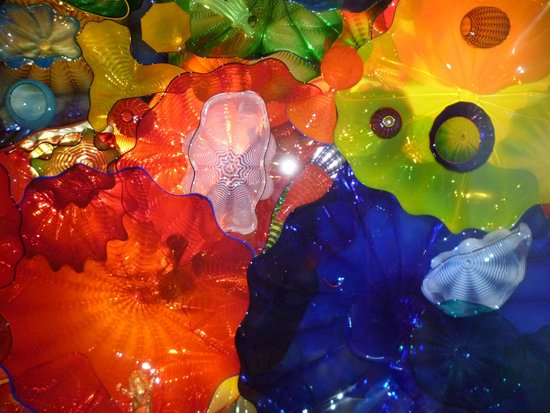 Chihuly Garden and Glass: Ceiling installation