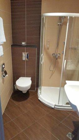Qubus Hotel Gdansk: Shower/bathroom