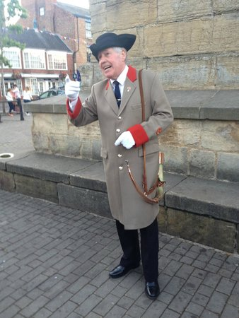 The Ripon Hornblower: The Wakeman (hornblower) engaging with the crowd
