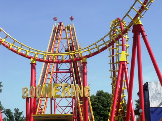 Prater: Boomerang rollercoaster