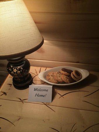 Cedaredge Lodge : Cookies waiting in the room