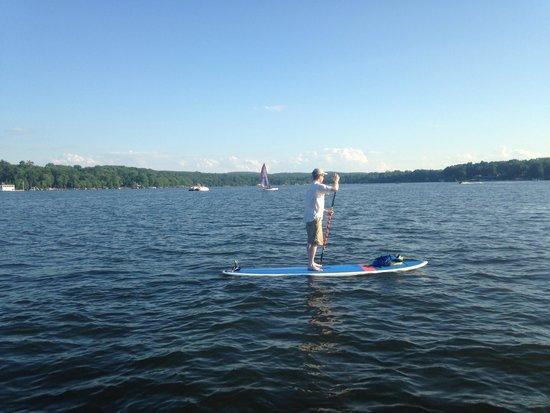 Greenwood Lake Paddleboards: Chaz paddleboarding