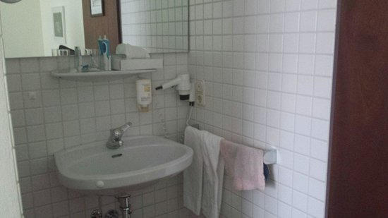Hotel Andreas Hofer: The sink was not even in the bathroom since it was very tiny! Was in the bedroom!