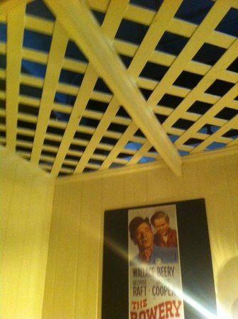 The Bowery House: lattice ceiling