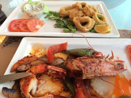 Jaffa's Restaurant Cafe and Bar: Креветка)