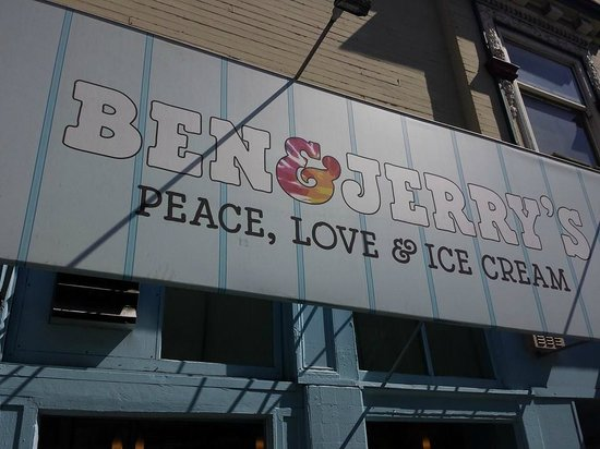 Haight-Ashbury: Ben & Jerry's on the corner of Haight & Ashbury Sts.