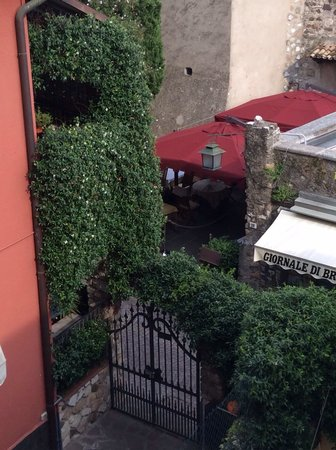 Corte Regina : Balcony view of our favorite restaurant.