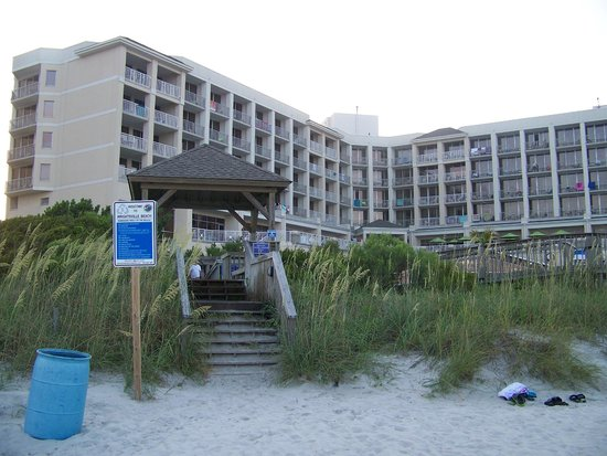 Holiday Inn Resort Wrightsville Beach: A view of the hotel from the beach