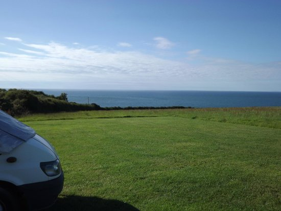 Nant Y Croi Farmhouse: The view from our van