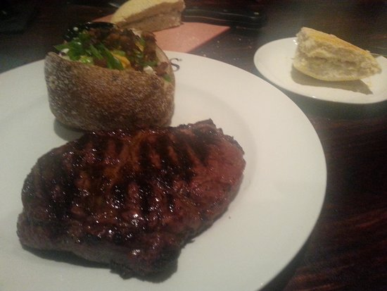 Firebirds Wood Fired Grill: Rib Eye Steak & Loaded Tater