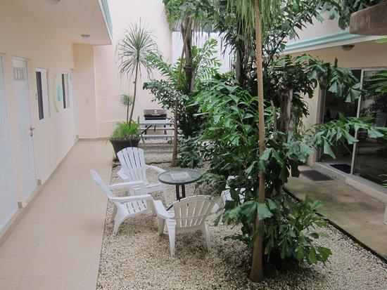 Art Deco Suites : courtyard