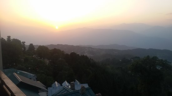 Grand View Hotel: View of Sunset from Hotel Room's balcony