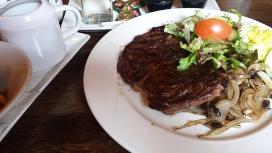 The Wolftrap Bar & Restaurant : 10oz Ribeye steak
