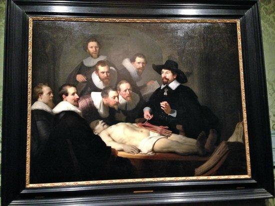"""Mauritshuis : Rembrandt """"La Leçon d'Aatomie"""""""