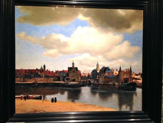 """Mauritshuis : Vermeer """"Vue de Delft"""""""