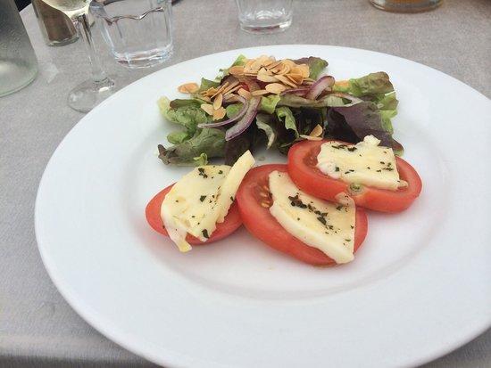 Restaurant Adelaide : Ensalada de mozzarela y tomate.