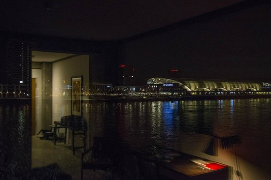 Speicher7 Hotel: Aussicht bei Nacht