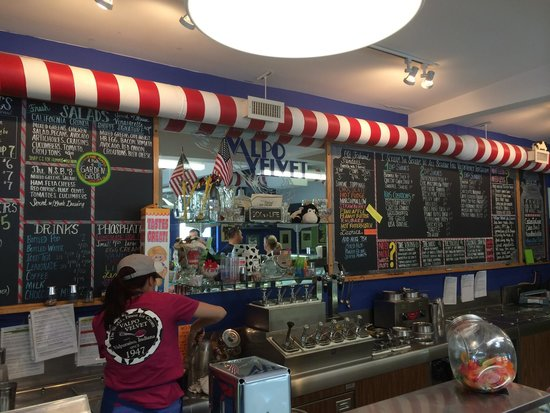 Valpo Velvet Ice Cream: This place has a huge menu, the food is very fresh