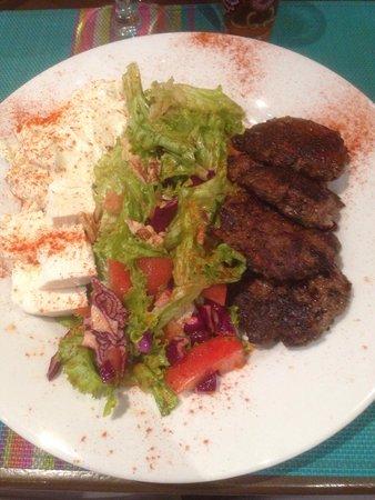 La Fiancee du Desert : assiette Kafta