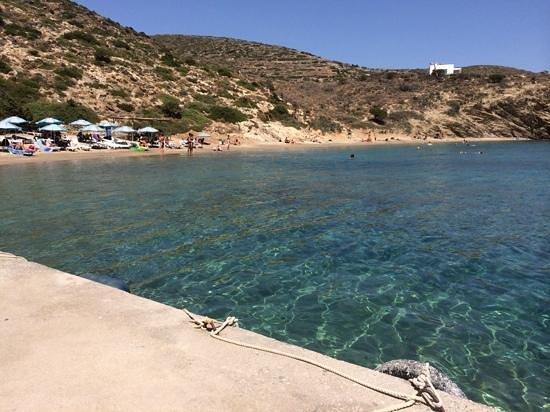Hotel Minoa: stranden du når med badebåten - perfekt :-)
